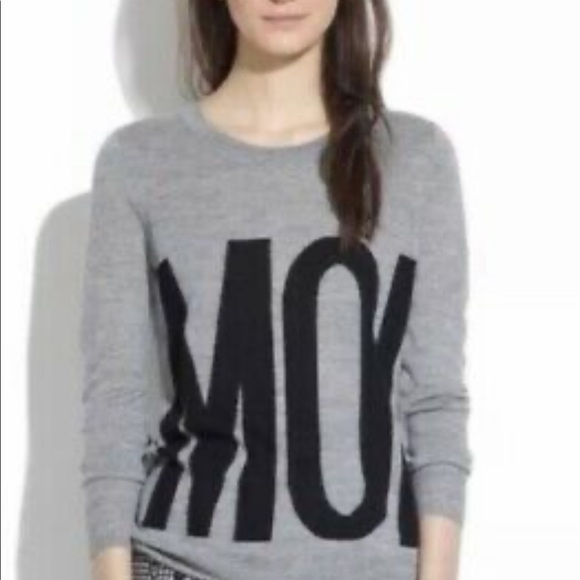 Madewell MOI grey sweater merino Small
